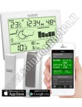 KIT La Crosse MA 10006 Mobile-Alerts Gateway LAN Sensore wireless di temperatura esterna e consolle interna