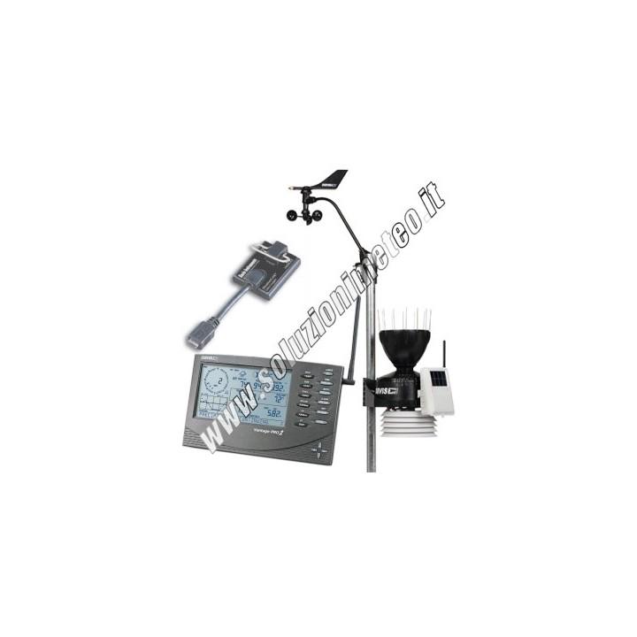 PROMOZIONE - Stazione meteo Davis Vantage Pro 2 wireless completa + Datalogger DW6152EU+DW6510USB