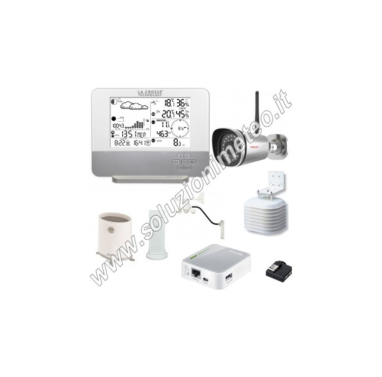 KIT soluzionimeteo.it - Stazione Meteo La Crosse WS1640 + Webcam HD + Sistema Meteobridge
