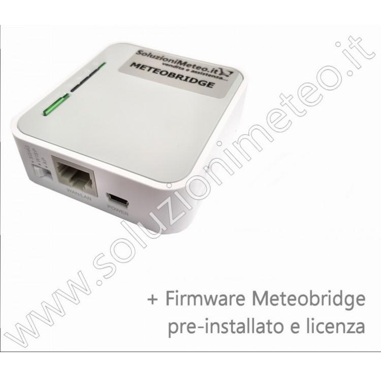 Sistema embedded Meteobridge per l'invio dei dati meteo sul web senza PC acceso