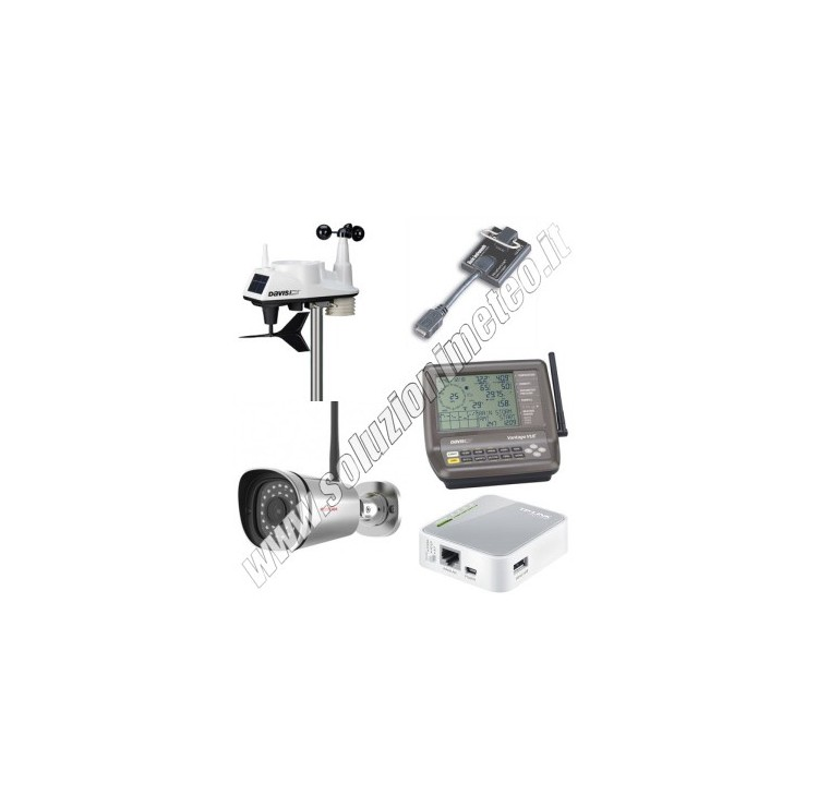 KIT soluzionimeteo.it - Stazione meteo Davis Vantage Vue wireless con Datalogger USB + Webcam WiFi HD + Sistema Meteobridge