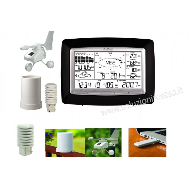 Stazione meteo La Crosse WS2812 IT+ wireless con penna USB wireless per il trasferimento dati