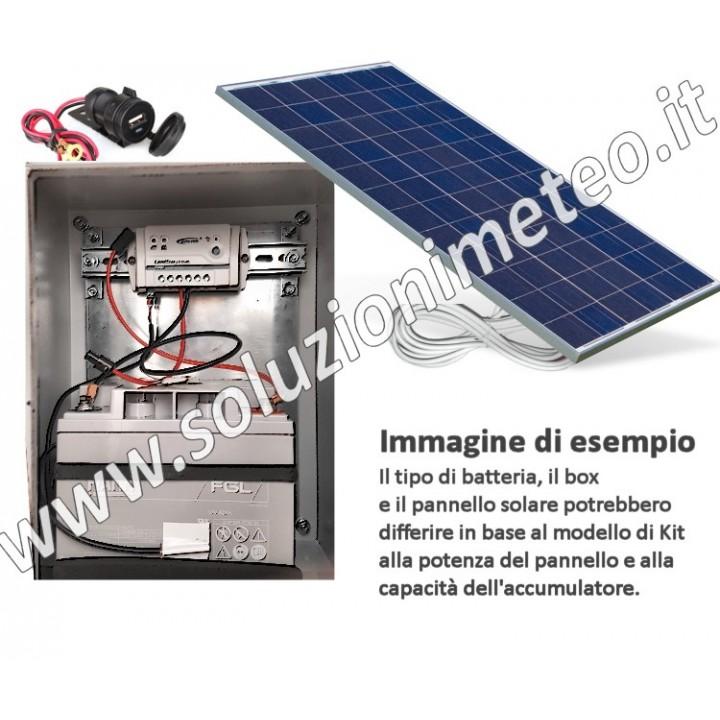 Kit alimentazione fotovoltaica 24H 80 Watt per garantire un carico di 6/8 watt per 4/5 giorni di cielo nuvoloso