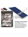 Kit alimentazione fotovoltaica 24H 50 Watt per garantire un carico di 3/4 watt per 4/5 giorni di cielo nuvoloso